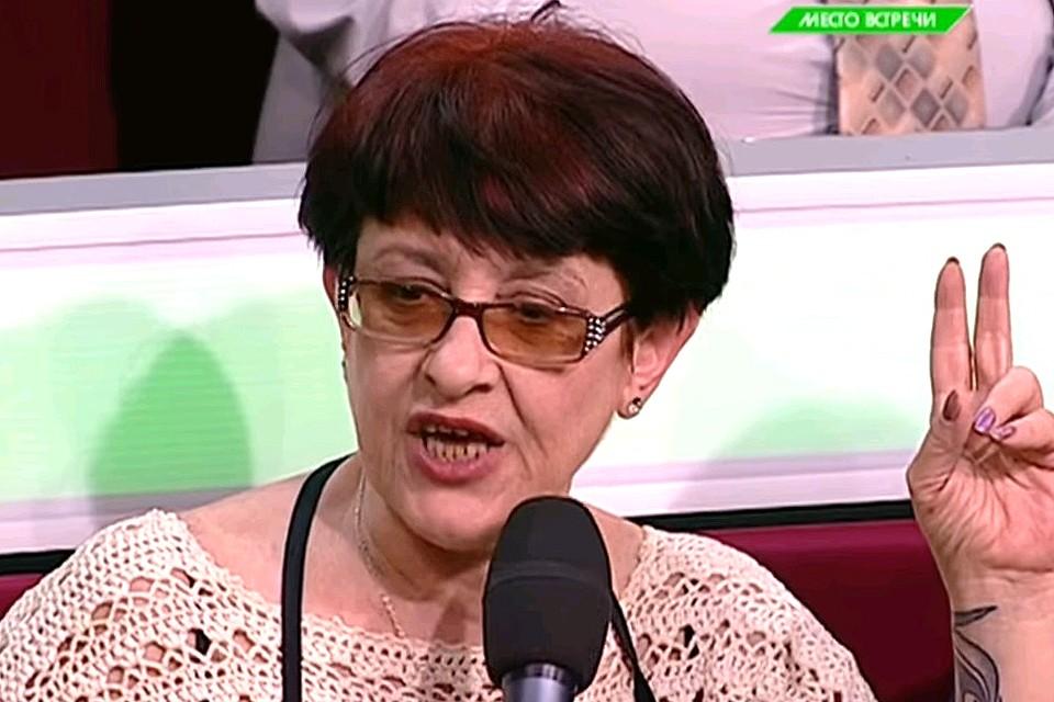 "Елена Бойко в студии передачи ""Место встречи"" на НТВ."