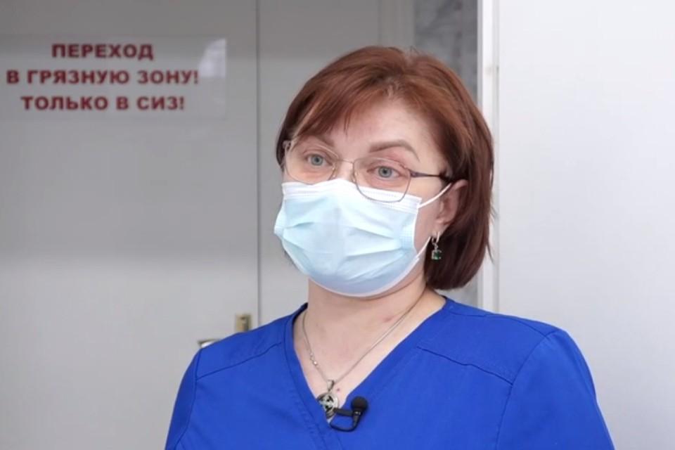 Врач красной зоны Ирина Гилева. Фото: правительство Иркутской области