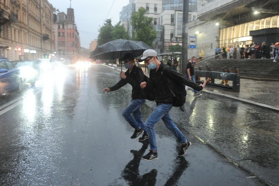 Дожди и сильный ветер придут в Петербург в пятницу.