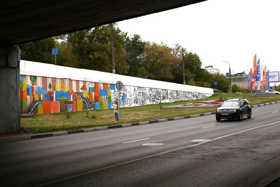 Граффити в честь легендарной «Победы» появились у Канавинского моста Фото: пресс-служба правительства Нижегородской области