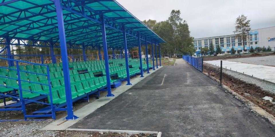 В Хабаровском крае завершают реконструкцию стадиона