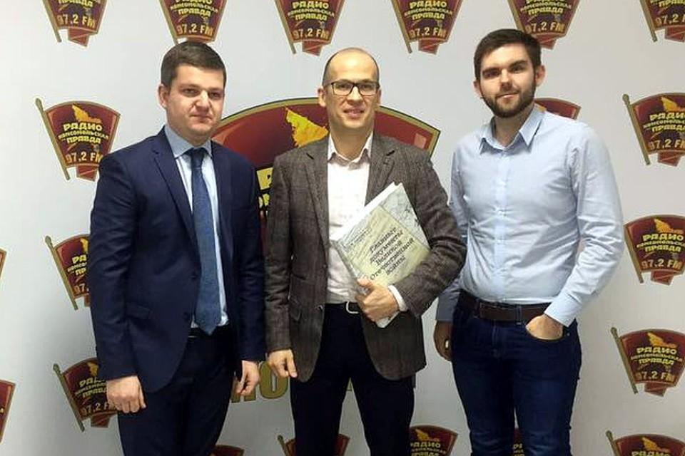Слева направо: Роман Карманов, Александр Бречалов, Роман Голованов.